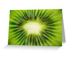Abstract Kiwi Greeting Card