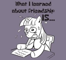 What I learned about friendship is.. by PinkiexDash