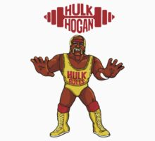 Hulk Hogan Retro Figure T-Shirt WWF by icwkev