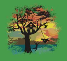 Sunset Silhouette Kids Clothes