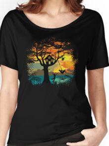 Sunset Silhouette Women's Relaxed Fit T-Shirt