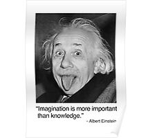 Imagination is more important than knowledge. Poster