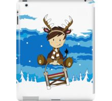 Reindeer Boy on Sledge iPad Case/Skin