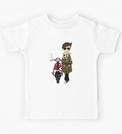 Mod Boy & Retro Scooter Kids Tee