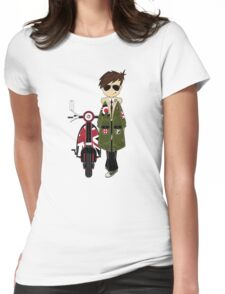 Mod Boy & Retro Scooter Womens Fitted T-Shirt