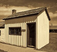 One-Room School House - Ft. Bridger 1880 by Brenton Cooper