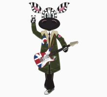 Mod Zebra with Guitar by MurphyCreative
