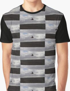 Farming With A Helicopter Graphic T-Shirt