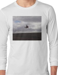 Farming With A Helicopter Long Sleeve T-Shirt