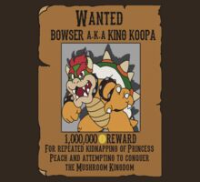 Bowser wanted poster by kalilak