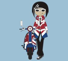 Mod Girl and Scooter Kids Clothes