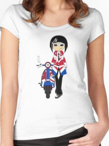 Mod Girl and Scooter Women's Fitted Scoop T-Shirt