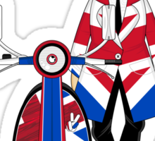 Mod Girl and Scooter Sticker