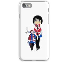 Mod Girl and Scooter iPhone Case/Skin