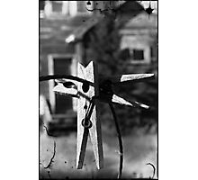 Hanging on a Wire Photographic Print