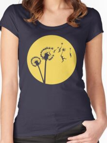 Dandylion Flight - Reversed Circular Women's Fitted Scoop T-Shirt
