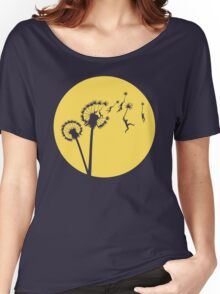 Dandylion Flight - Reversed Circular Women's Relaxed Fit T-Shirt
