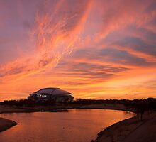 Dallas Cowboys Sunset by Wynn Winberg