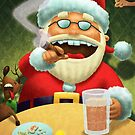Santa's New Years Eve! by Mike Cressy
