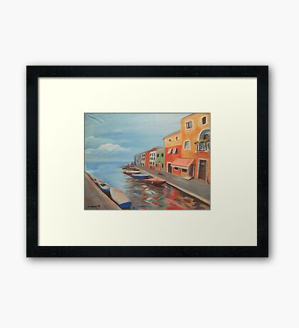 Burano Canal Framed Print