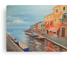 Burano Canal Canvas Print