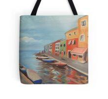 Burano Canal Tote Bag