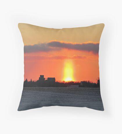 Prairie Geyser Throw Pillow
