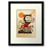 NO LEGGIES Framed Print