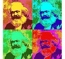 Karl Marx Pop Art Photographic Print