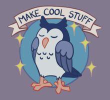 Make Cool Stuff owl emblem Kids Tee