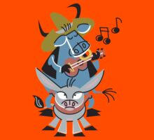 Cool Bull With His Friend Donkey Playing Music!!! Kids Clothes