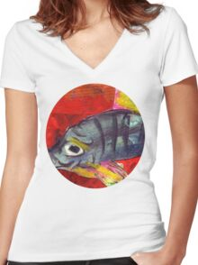 baby fish Women's Fitted V-Neck T-Shirt