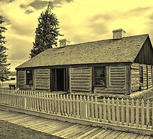 Officer's Living Quarters - Ft. Bridger(bw) by Brenton Cooper