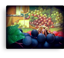 Enjoying Grapes  Canvas Print