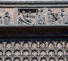 Left lintel over doorway Santa Anastasia Verona Italy 198404190062  by Fred Mitchell