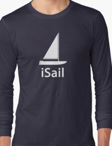 iSail WHITE Long Sleeve T-Shirt