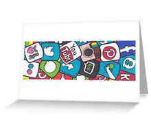 Social Media Collage Greeting Card