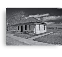 Ft. Bridger Guardhouse 1888 - 1890  Canvas Print
