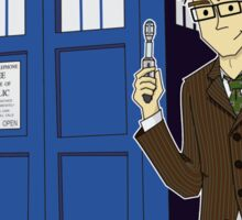 Dr Who Animated (no background) Sticker