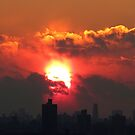 New Year Eve Sunset in NYC 2013 by Alberto  DeJesus
