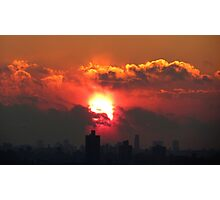 New Year Eve Sunset in NYC 2013 Photographic Print