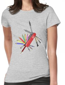 Pocket Art Womens Fitted T-Shirt