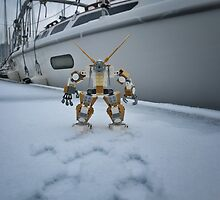 Winter-mech on snowy docks by bricksailboat