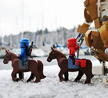 Ninjas explore snowy docks by bricksailboat