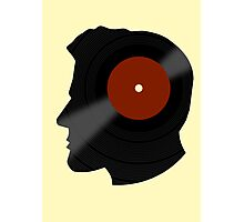 Vinyl Records Lover - The DJ - Vinylized Man T Shirt Photographic Print