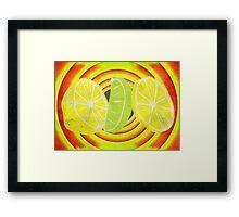 Pop Art Lemon Lime - T Shirt Stickers and Prints Framed Print
