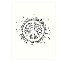 all we are saying.... is give peace a chance.... Art Print