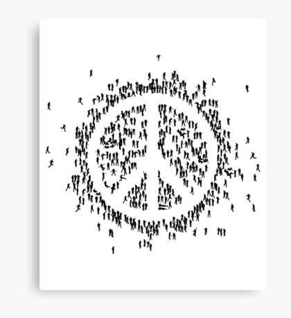 all we are saying.... is give peace a chance.... Canvas Print