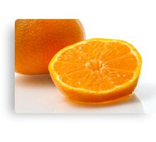 A slice of mandarin Canvas Print