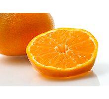 A slice of mandarin Photographic Print